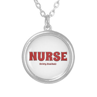 Nurse On Duty Stand Back Personalized Necklace