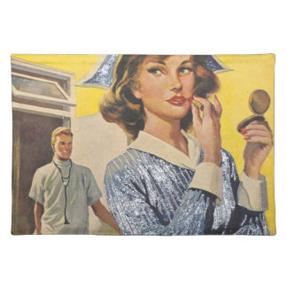 Nurse on the Prowl Cloth Placemat