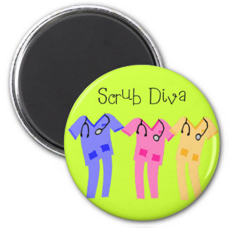 Nurse or Medical Scub Wearer gifts 2 Inch Round Magnet