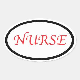 nurse oval sticker