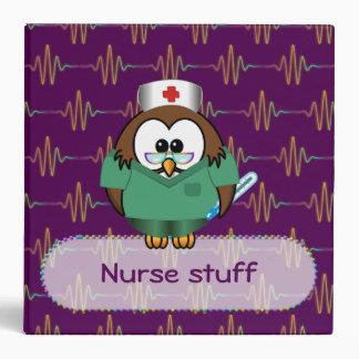 nurse owl 3 ring binder