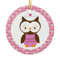Nurse Owl Gift Ornament
