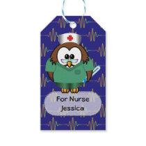 nurse owl gift tags