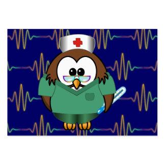 nurse owl large business card