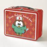"nurse owl  - metal lunchbox<br><div class=""desc"">Funny,  cute and retro lunchbox for your favorite nurse.</div>"