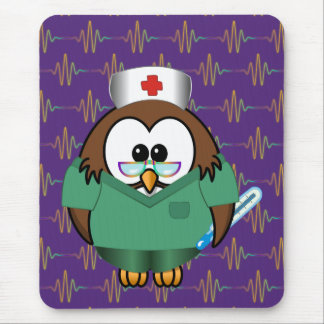 nurse owl mouse pad