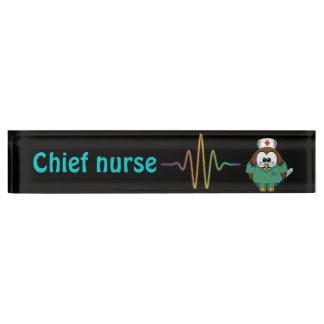 nurse owl name plate