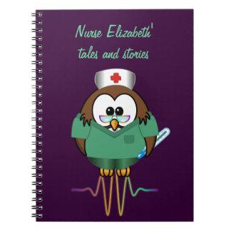 nurse owl spiral notebooks