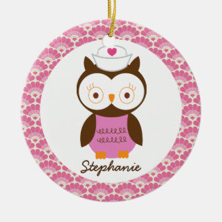 Nurse Owl Personalized Gift Ornament