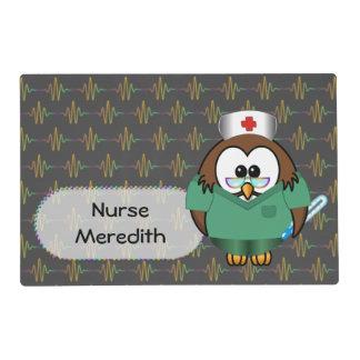 nurse owl placemat