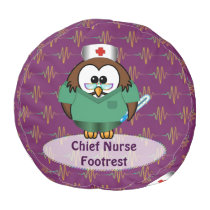 nurse owl pouf