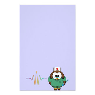 nurse owl stationery