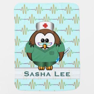 nurse owl swaddle blankets