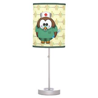 nurse owl table lamp