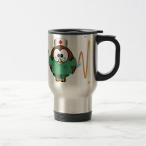 nurse owl travel mug