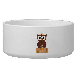 Nurse Owl (w/bandaid) Bowl
