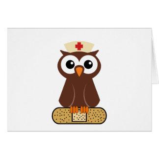 Nurse Owl (w/bandaid) Card