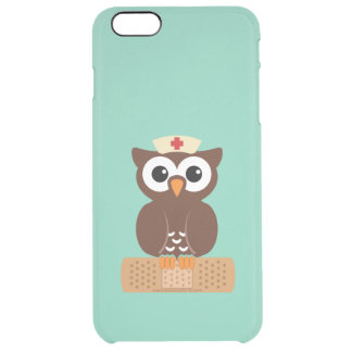 Nurse Owl (w/bandaid) Clear iPhone 6 Plus Case