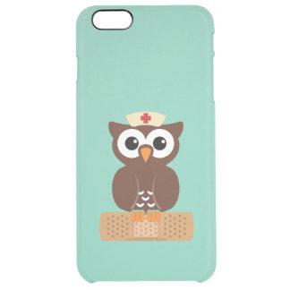 Nurse Owl (w/bandaid) Clear iPhone 6 Plus Case