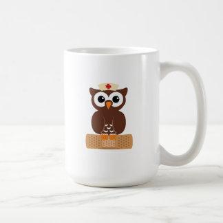 Nurse Owl (w/bandaid) Coffee Mug