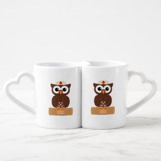 Nurse Owl (w/bandaid) Coffee Mug Set