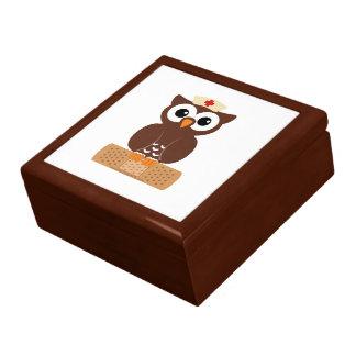 Nurse Owl (w/bandaid) Keepsake Box
