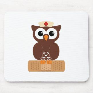 Nurse Owl (w/bandaid) Mouse Pad