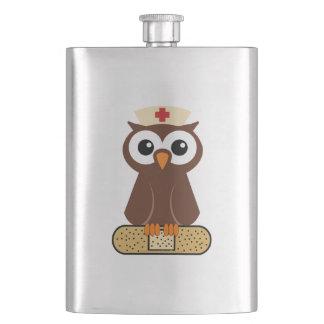 Nurse Owl (w/bandaid) Flasks