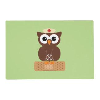 Nurse Owl (w/bandaid) Placemat
