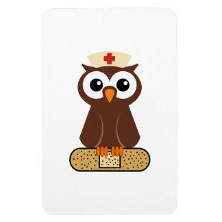 Nurse Owl (w/bandaid) Rectangular Photo Magnet