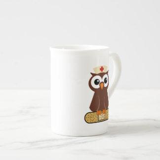Nurse Owl (w/bandaid) Bone China Mug