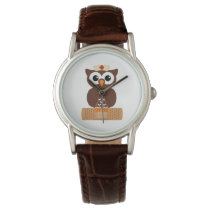 Nurse Owl (w/bandaid) Wrist Watch