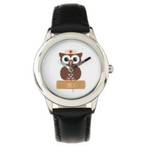 Nurse Owl (w/bandaid) Wristwatch