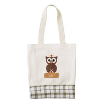 Nurse Owl (w/bandaid) Zazzle HEART Tote Bag