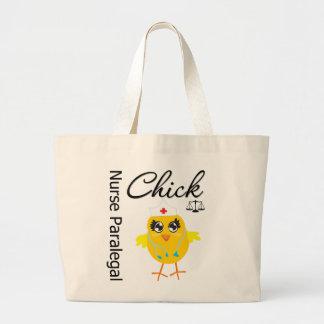 Nurse Paralegal Chick v1 Tote Bag