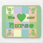 Nurse Patchwork (Green) Mouse Pad
