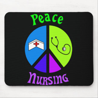 """Nurse """"Peace"""" Gifts For All Professionals Mouse Pad"""