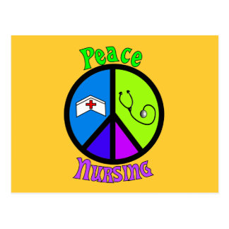 """Nurse """"Peace"""" Gifts For All Professionals Postcards"""