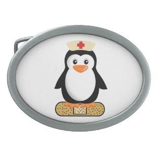 Nurse Penguin Belt Buckle