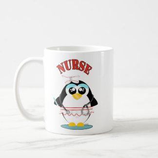 Nurse Penguin Female Classic White Coffee Mug
