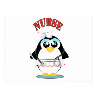 Nurse Penguin Female Postcard