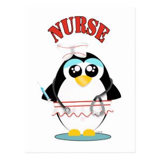 Nurse Penguin Female Postcard