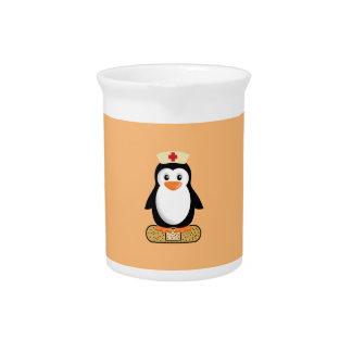 Nurse Penguin Drink Pitcher