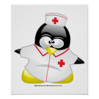 Nurse Penguin Poster