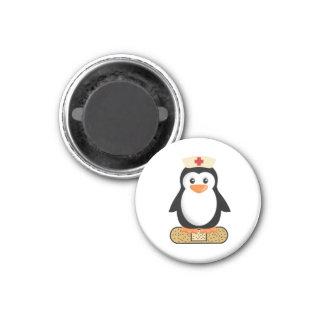 Nurse Penguin (w/bandaid) 1 Inch Round Magnet