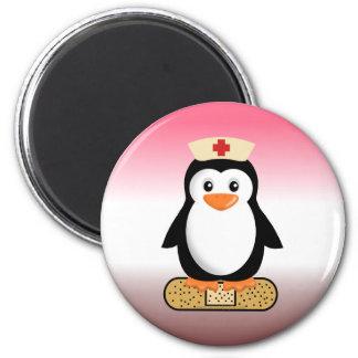 Nurse Penguin (w/bandaid) 2 Inch Round Magnet