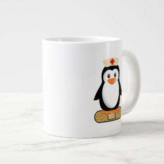 Nurse Penguin (w/bandaid) Giant Coffee Mug