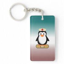 Nurse Penguin (w/bandaid) Keychain