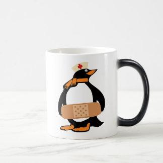 Nurse Penguin (w/bandaid) Magic Mug