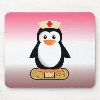 Nurse Penguin (w/bandaid) Mouse Pad